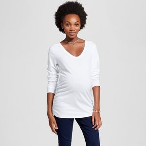 Maternity Scoop Neck Side Shirred T-shirt Soft!
